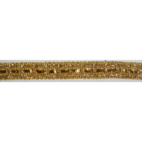 Paula arany szegő szalag, .10 mm,  210 Ft/méter