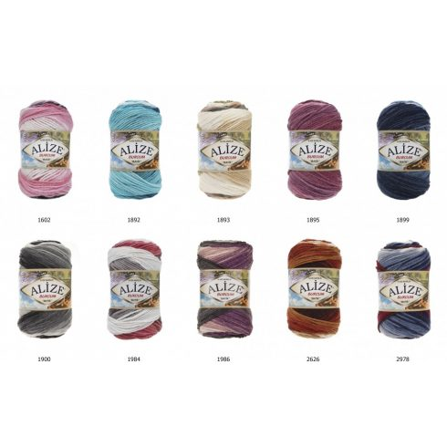 Burcum Batik divatos melír fonal 100 gr/210 méter, 100 % akryl,  750 Ft/100 gr ( 7500 Ft/1kg) (5x100 gr)