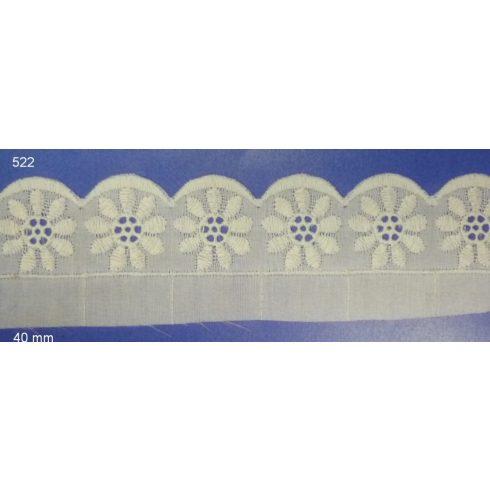 Madeira csipke, 35  mm, Kód: 522,  255 Ft/méter (8,3 m) (9 méter)