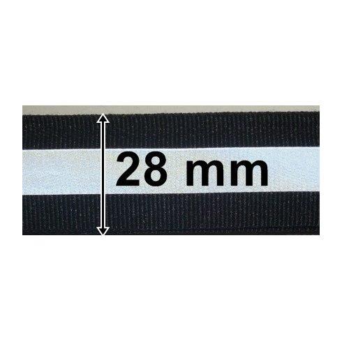 Fényvisszaverő szalag fekete 28 mm, 305 Ft/méter