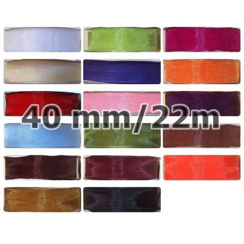 Organza szalag, 40 mm, több színben, 75 Ft / méter (22 méter )