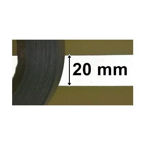 Fényvisszaverő biztonsági szalag szürke, bevont védőréteggel,  20mm, 300 Ft / méter  (10 métertől...)