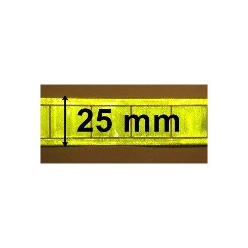 Fényvisszaverő műanyag szalag 25 mm sárga színben 240Ft/m 1 métertől...